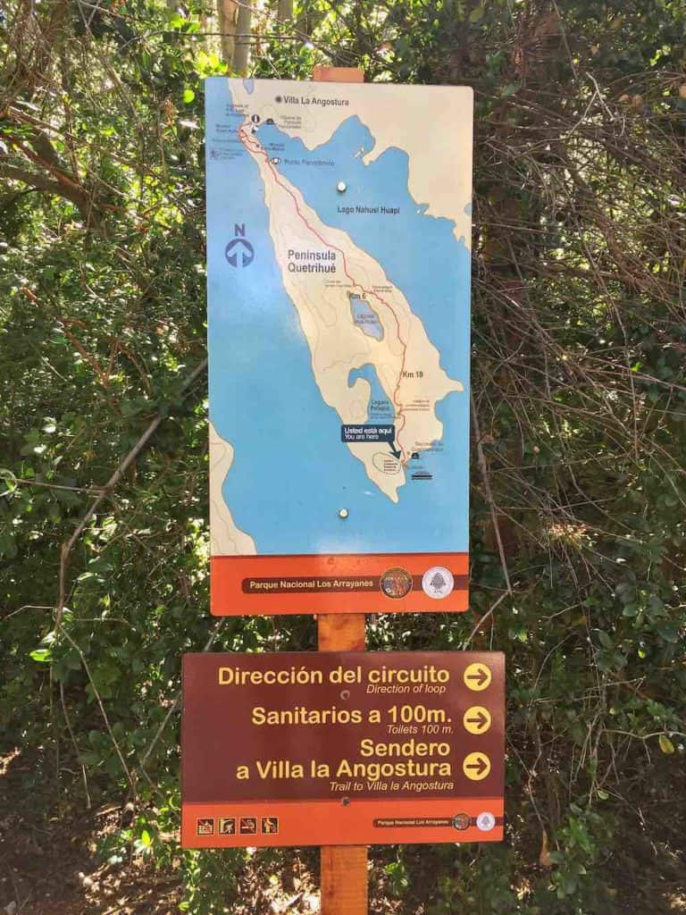 Los Arrayanes National Park hiking trail