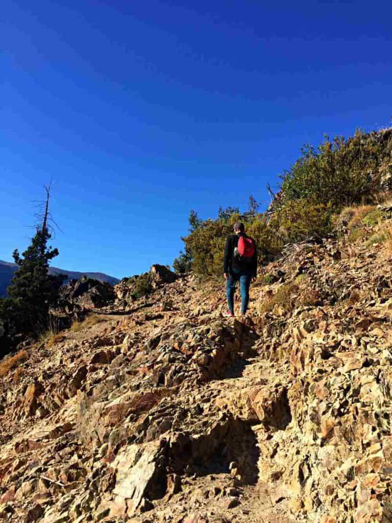 Rocky terrain Refugio Frey hike