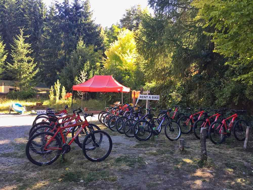 bikes for rent at los arrayanes national park
