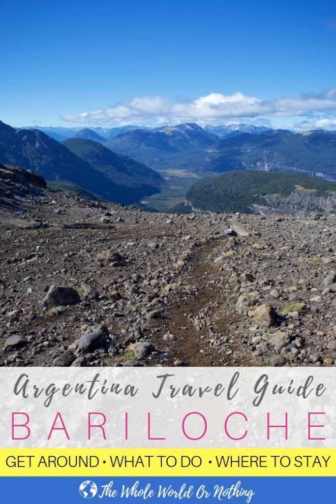 Refugio Otto Meiling hike with text overlay Argentina Travel Guide Bariloche