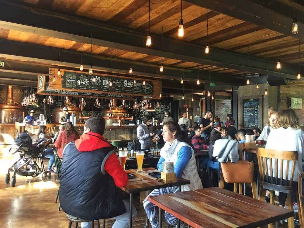 Bar inside Patagonia Brewery Bariloche