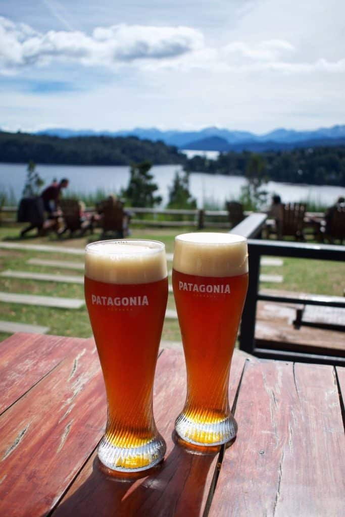 Beers at Patagonia Brewery Bariloche