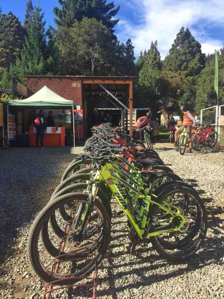 Bikes for rent at Circuito Chico Adventure