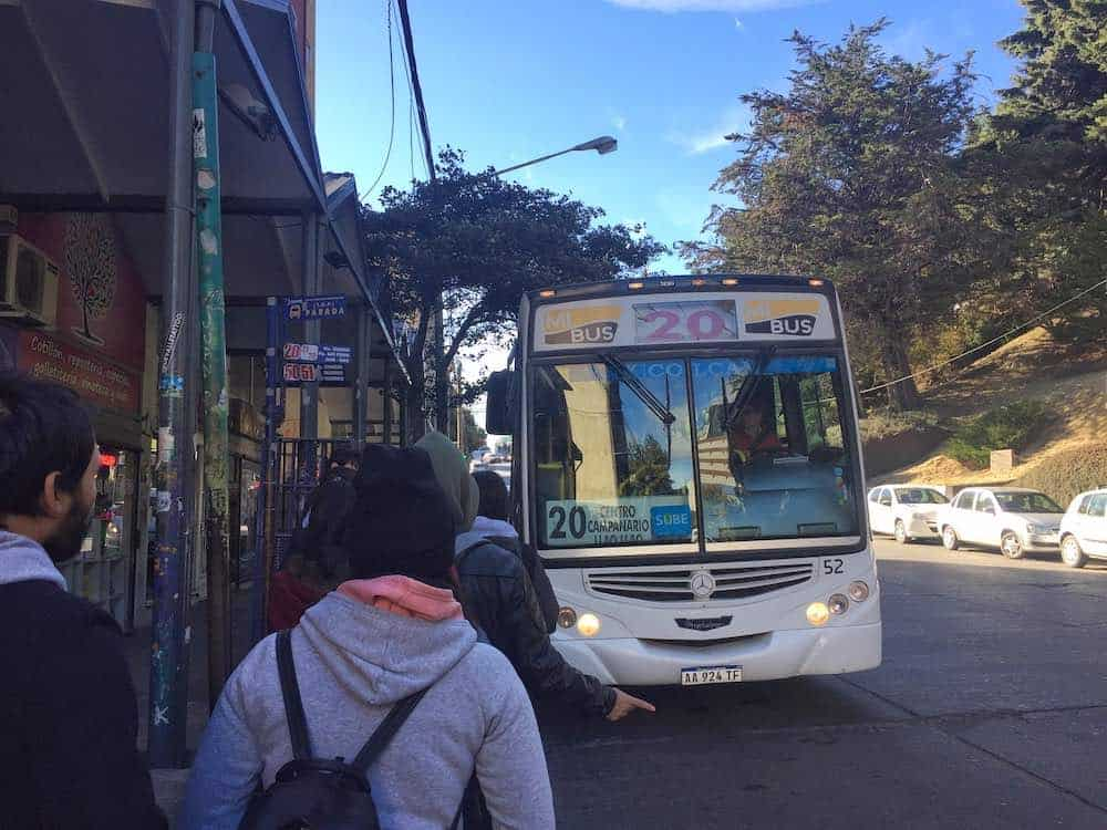 Bus to start of Circuito Chico Bariloche