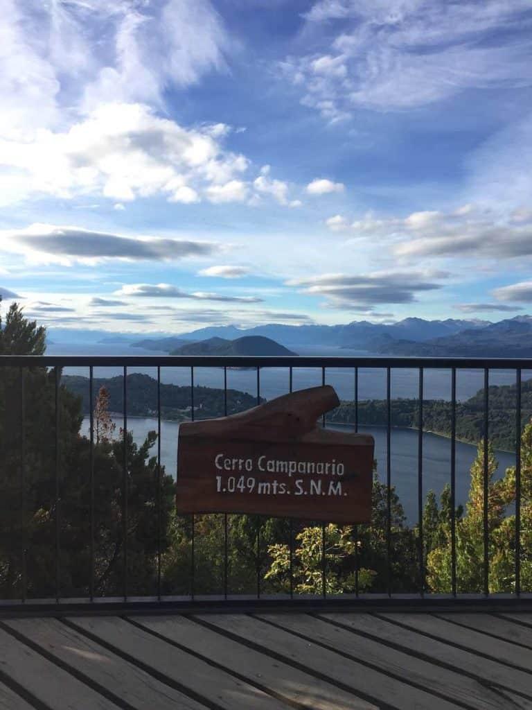 Cerro Campanario 1049m sign
