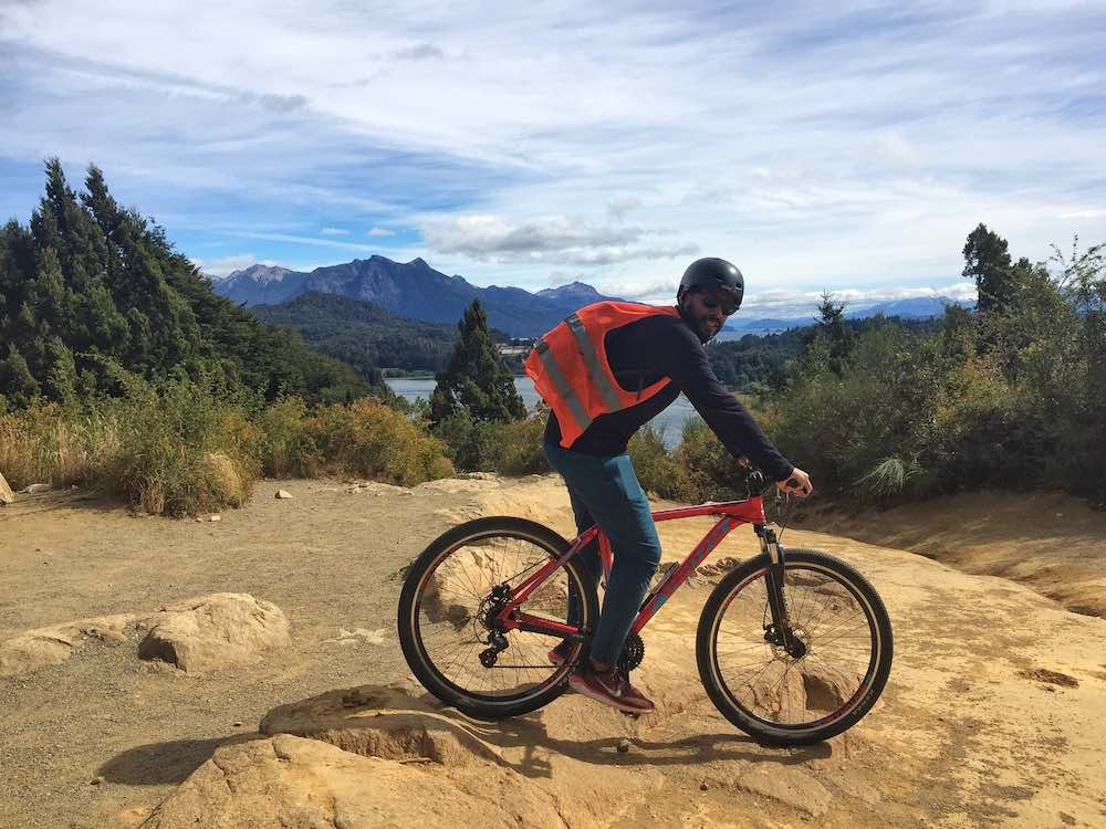 James on bike on Circuito Chico Bariloche