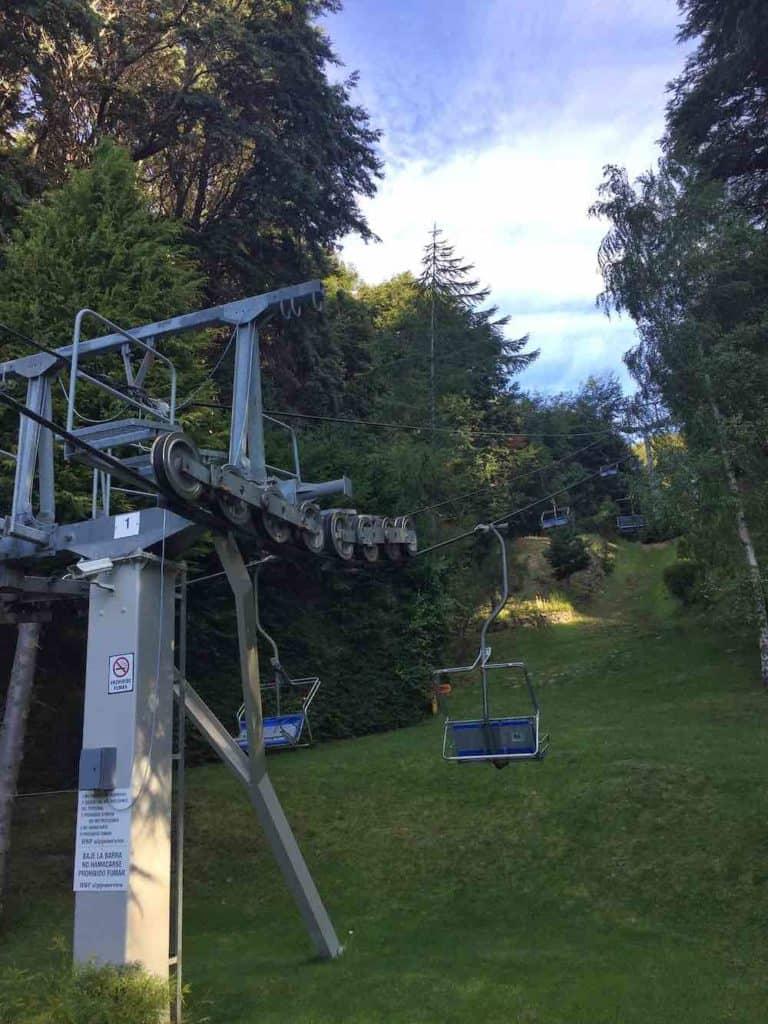 Ski lift from bottom of Cerro Campanario