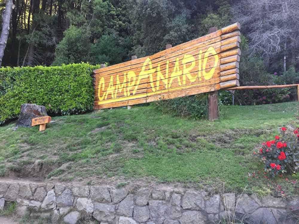 Wooden Campanario sign