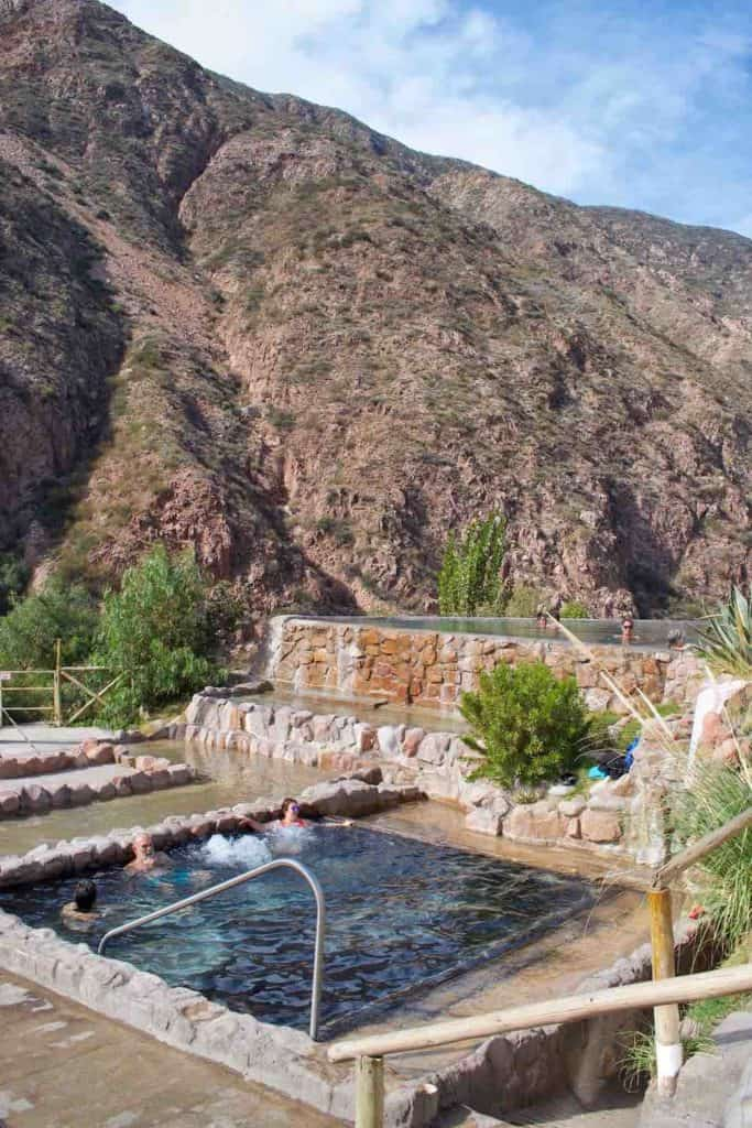 hot springs mendoza views