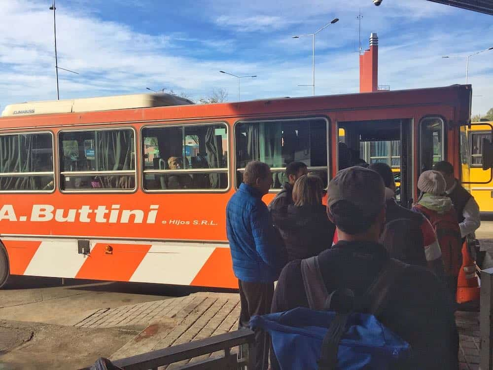 how to get to Cacheuta Mendoza by bus