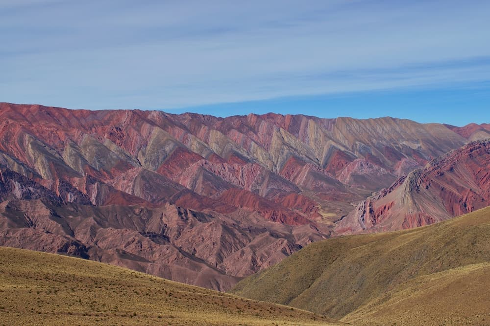 Fourteen coloured mountain Humahuaca Jujuy