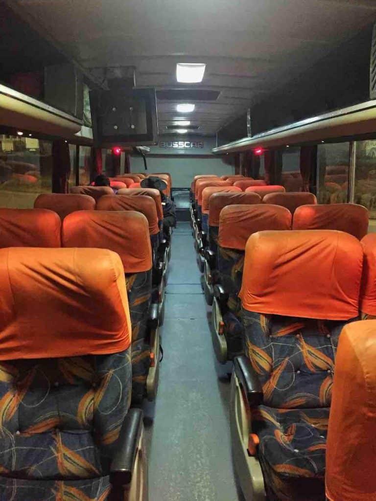 Bus from Tarija to Sucre Bolivia
