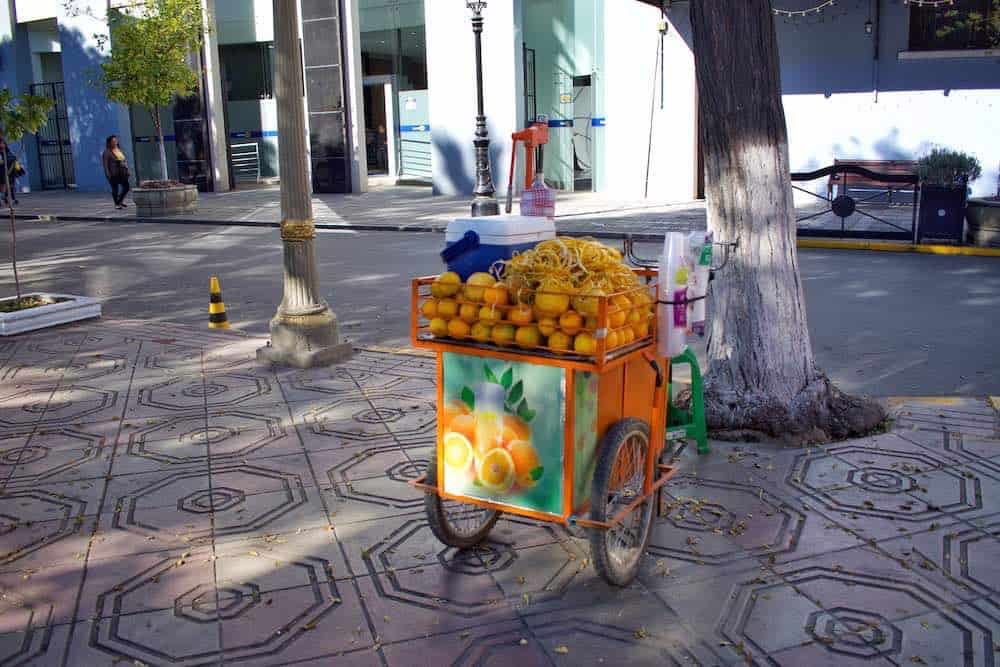 Fresh Orange Cart Bolivia