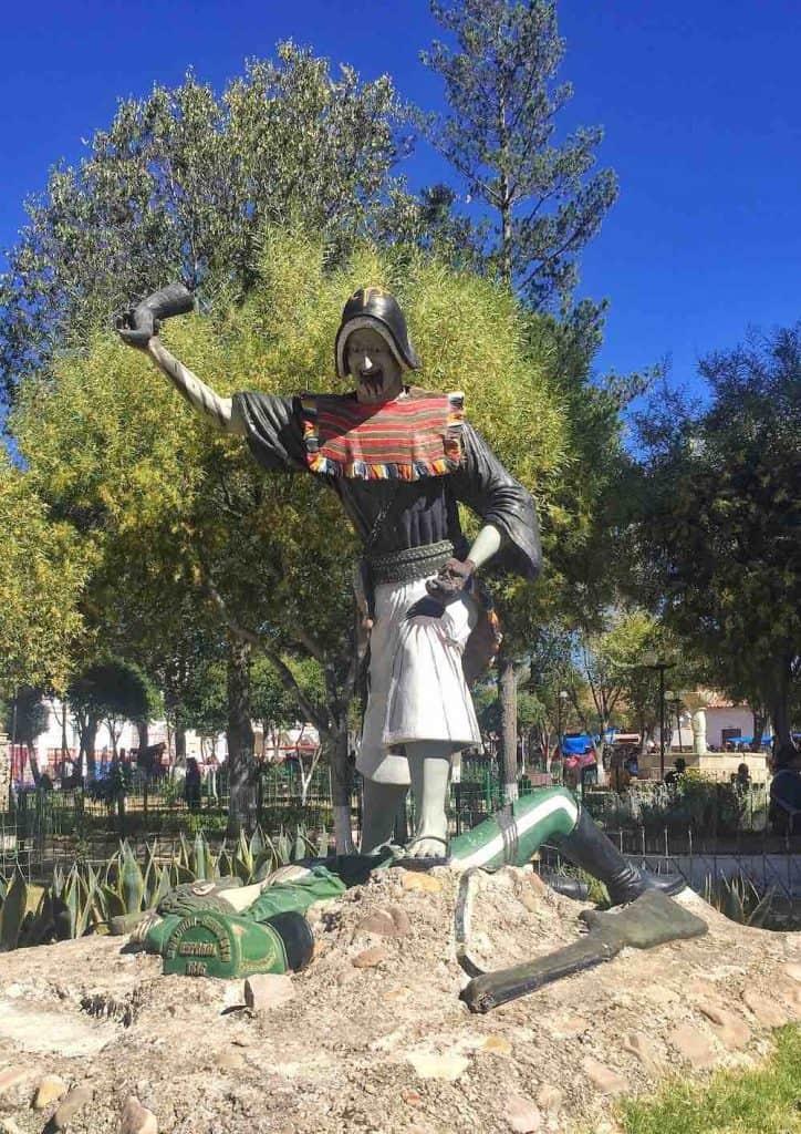 Jumbate Statue Tarabuco Bolivia