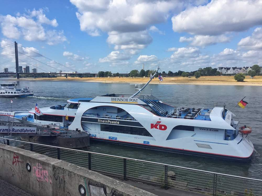 Rhine Embankment River Cruise Dusseldorf