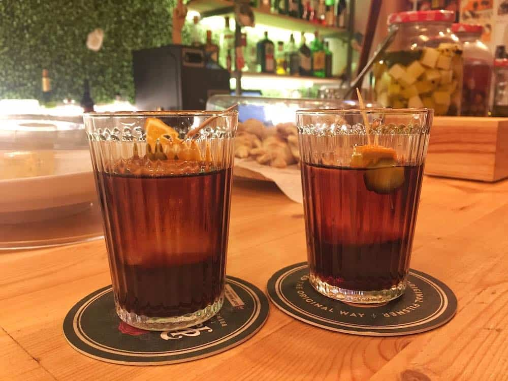 Vermut at best bars in Gracia Barcelona