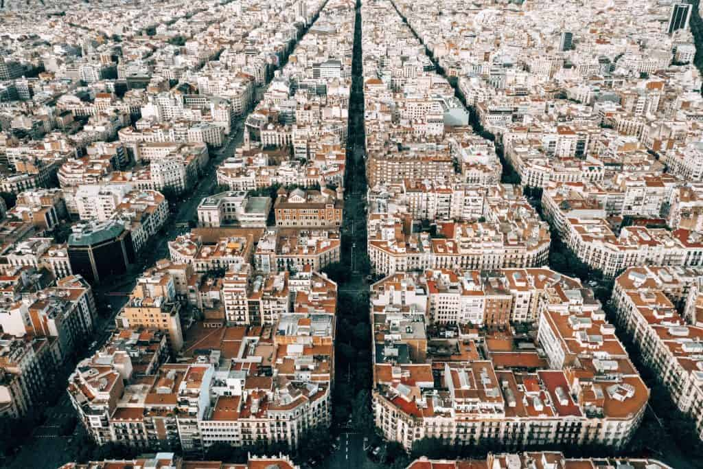 Best Barcelona views - grid layout of city