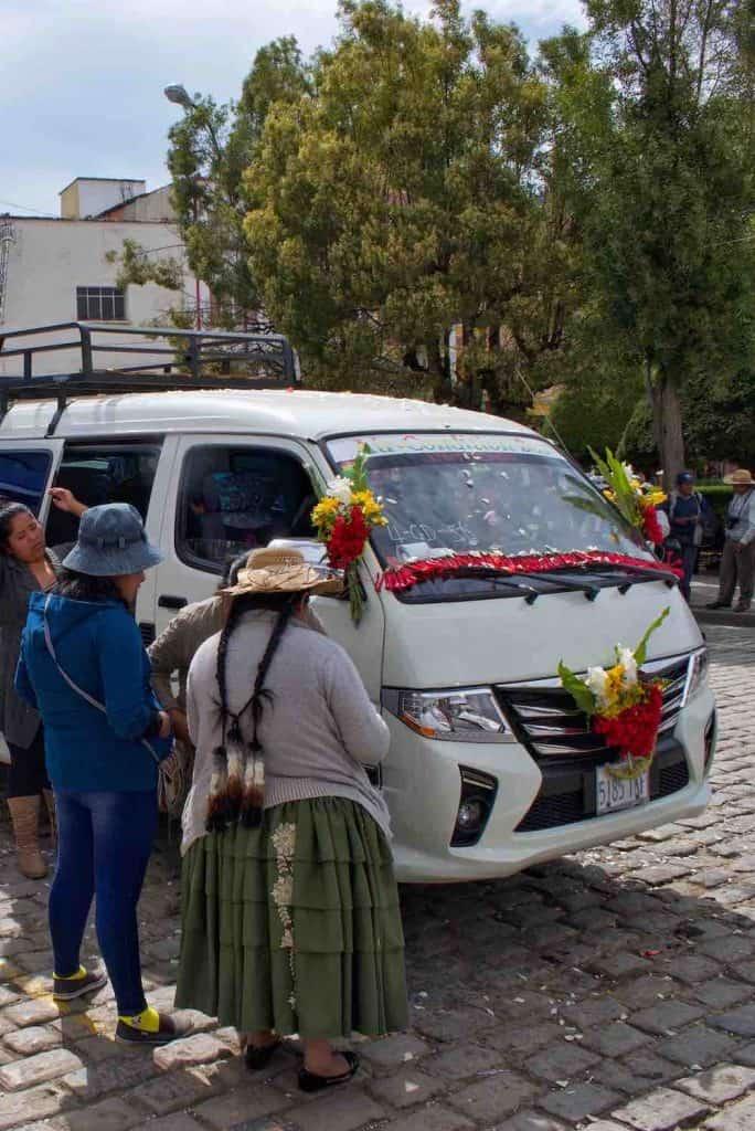 Bolivian culture Car Blessing Copacabana