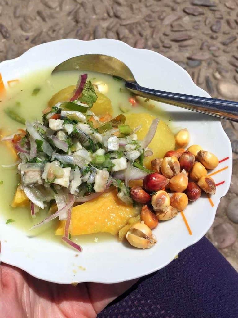 Ceviche street food Bolivia