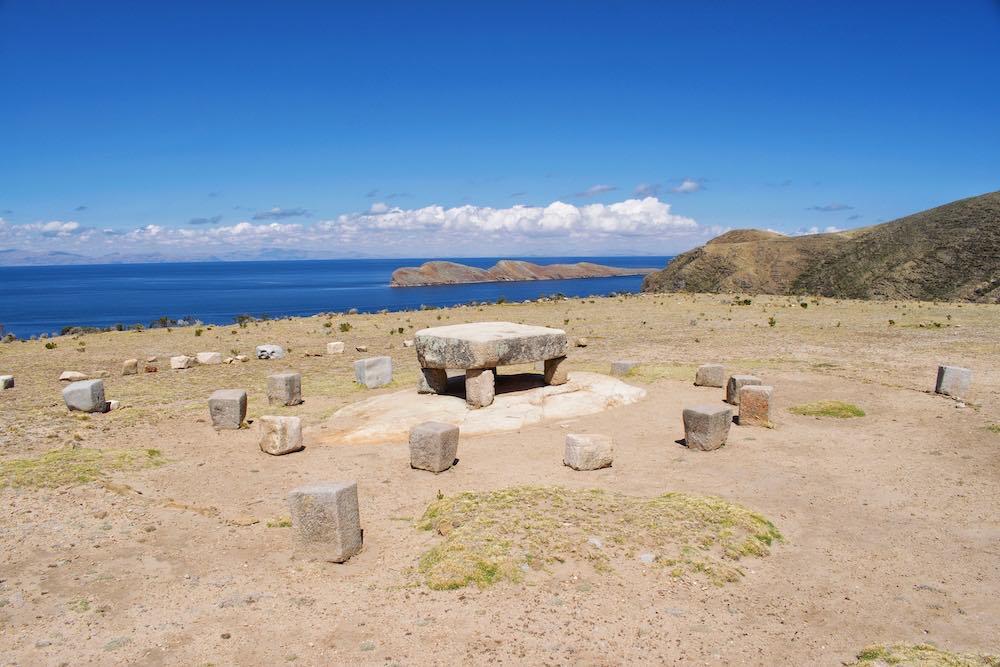 Inca sacrificial table Isla del Sol North