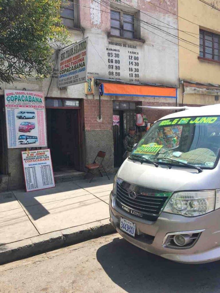 Minibus from La Paz To Copacabana