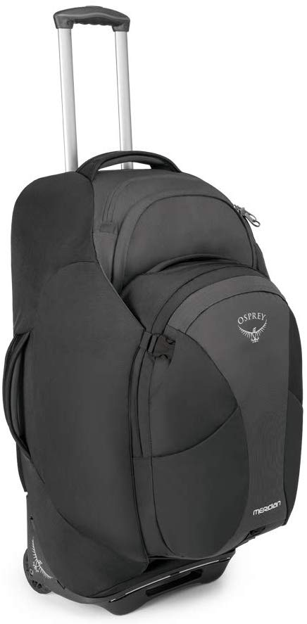 Best Travel Backpack With Wheels and Detachable Daypack Osprey Meridian 75L