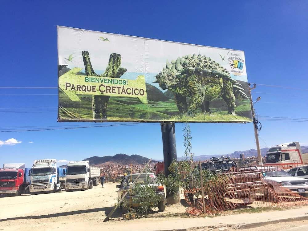 Parque Cretacico Sign