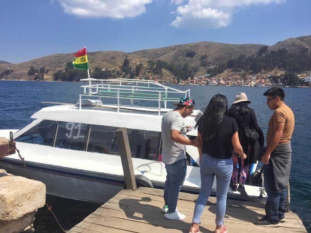 Tiquina Strait passenger boat