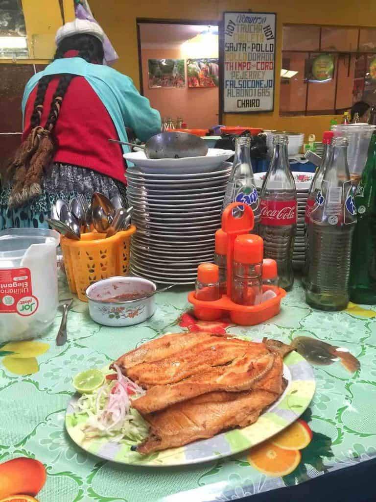 Trout in Mercado Copacabana