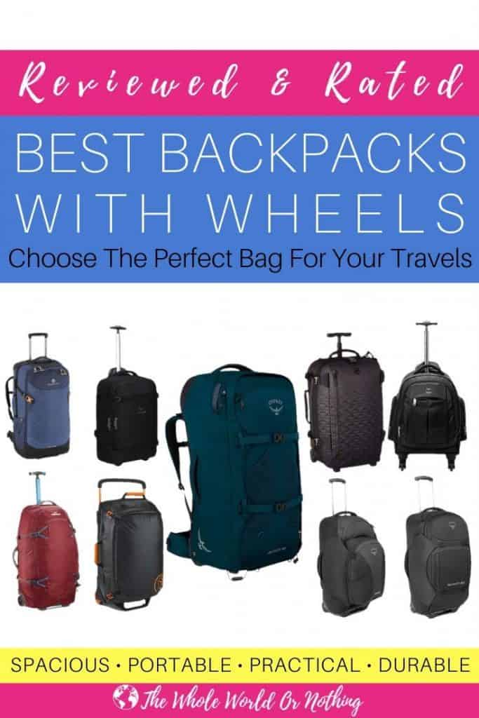 Backpacks with text overlay Reviewed & Rated Best Backpacks With Wheels