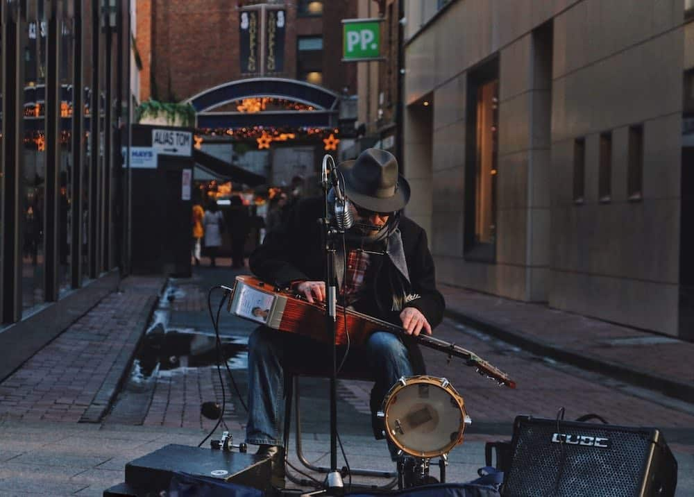 Busker free things to do in Dublin