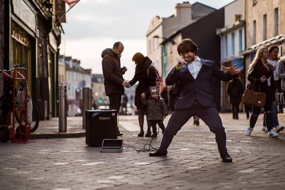 Buskers Galway Ireland