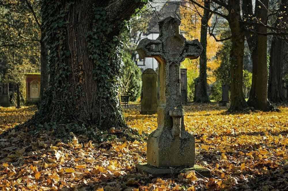 Gravestone in Graveyard
