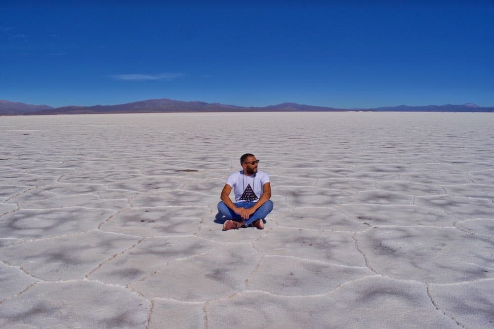 James on the Argentina Salt Flats