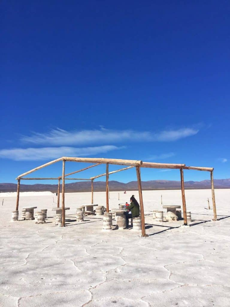 Picnic area at Salinas Grandes