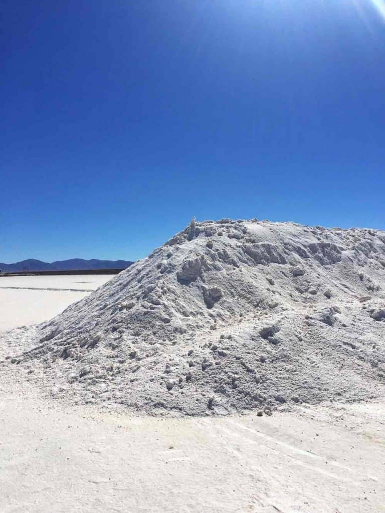 Salt mounds on the Salt Flats Argentina