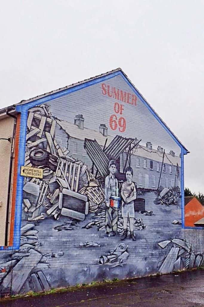 Summer of 69 Belfast Mural