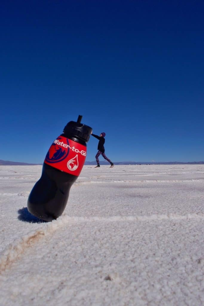 Water To Go on Argentina Salt Flats