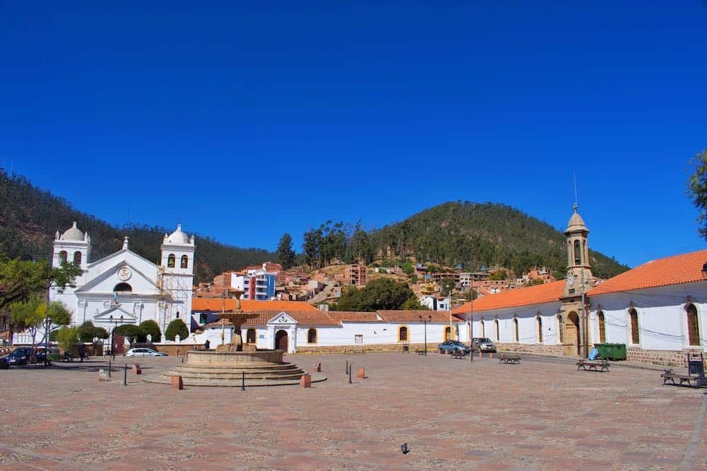Blue skies in Sucre Bolivia