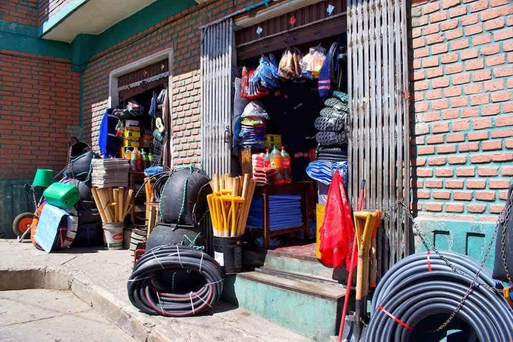 Miners market Potosi Bolivia