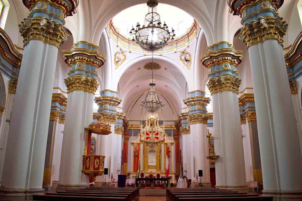 Opulent church in Potosi Bolivia