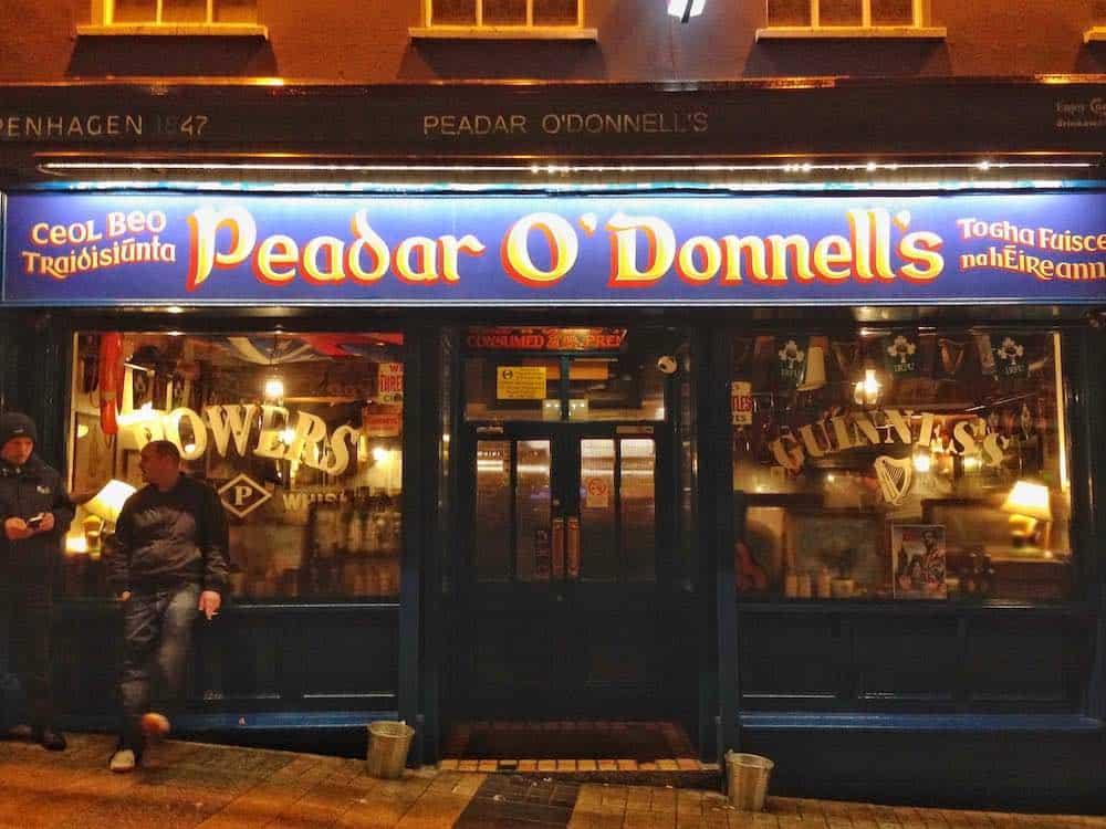Peadar O'Donnells Derry nightlife