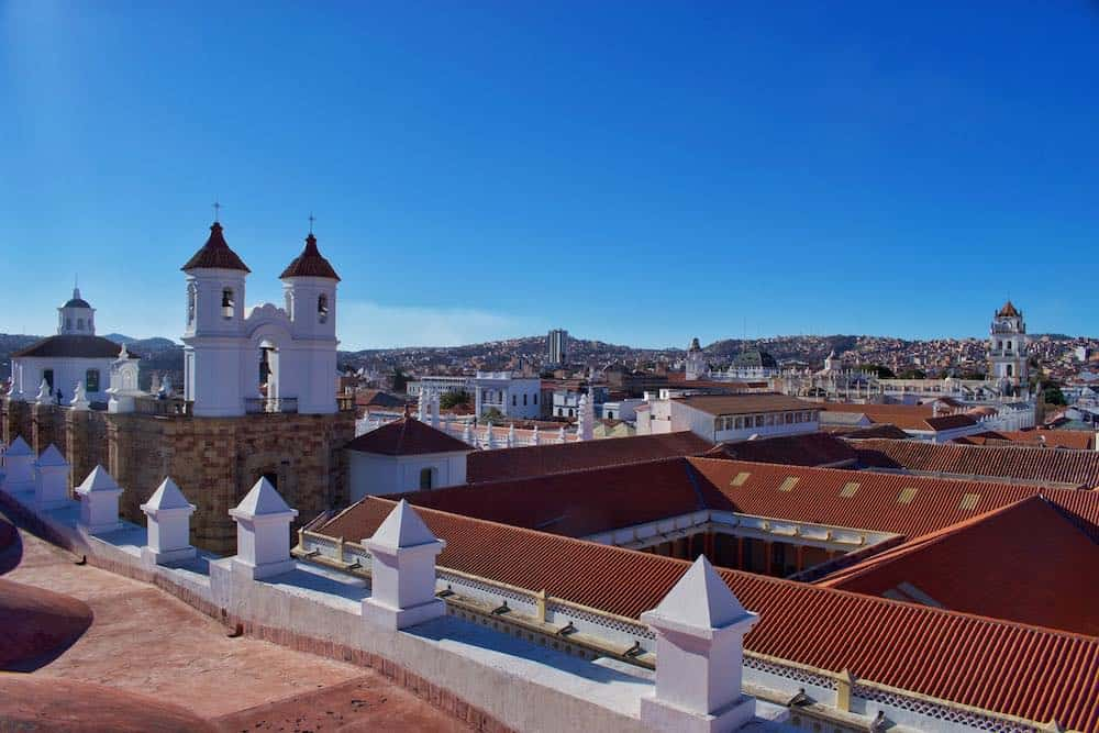 Red rooftops Sucre Bolivia