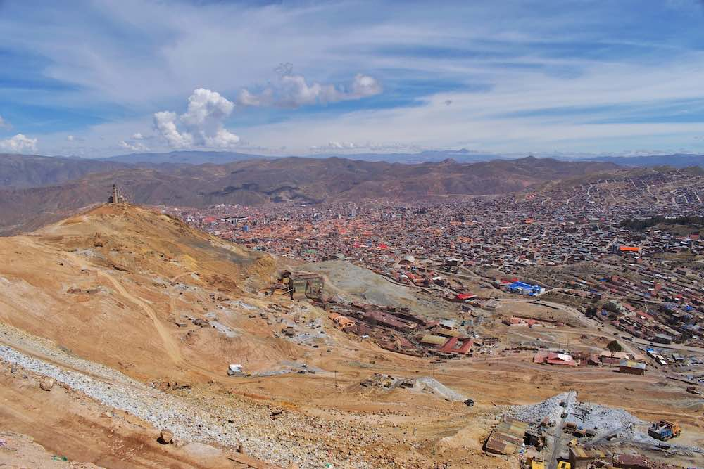 View from Cerro Rico over Potosi