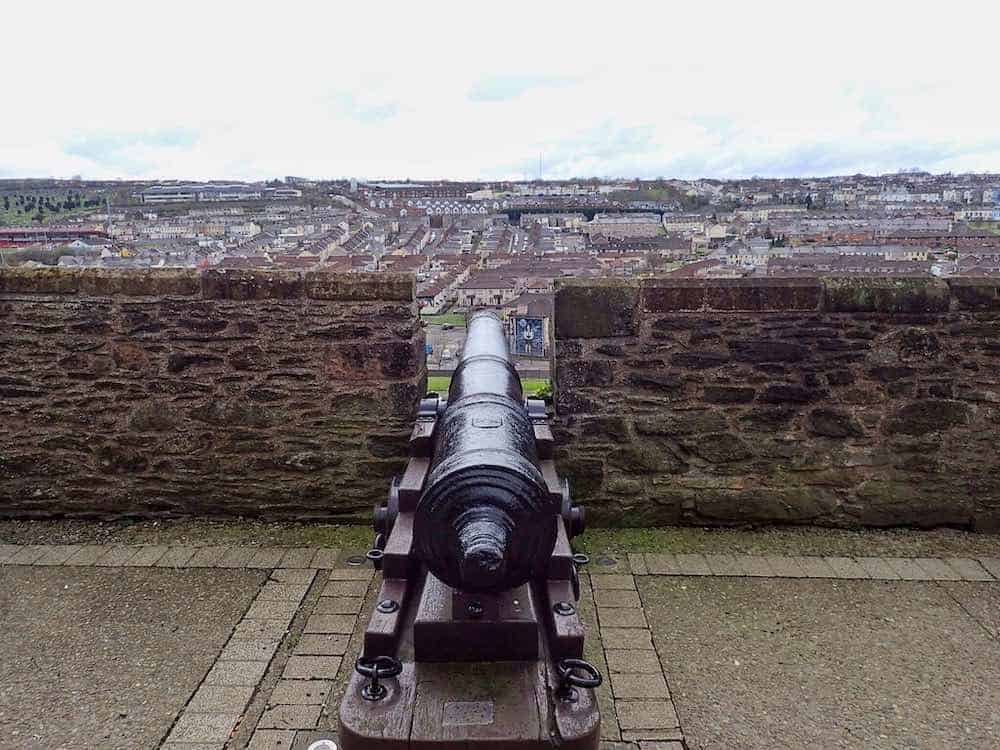 View of Bogside from Derry City Walls