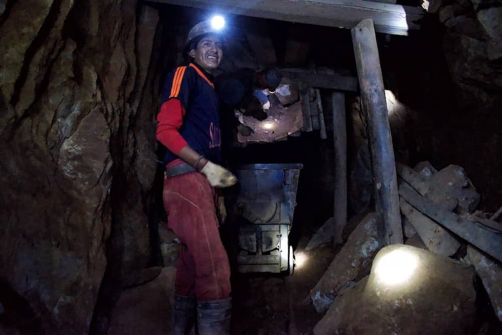 miner at work inside Cerro Rico