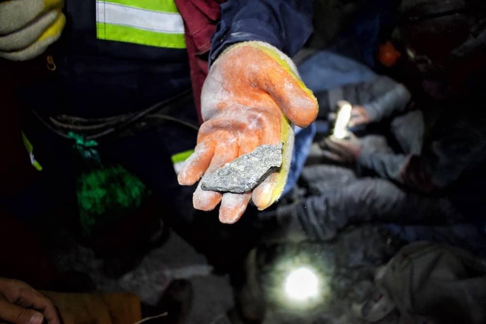 minerals inside Cerro Rico Bolivia