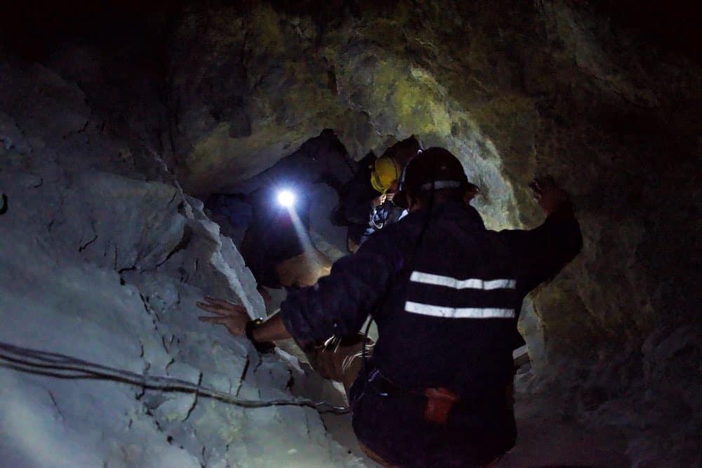 underground in Potosi's mines