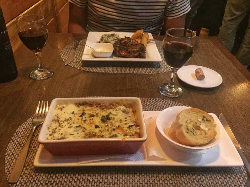 Food at Cosmo Cafe