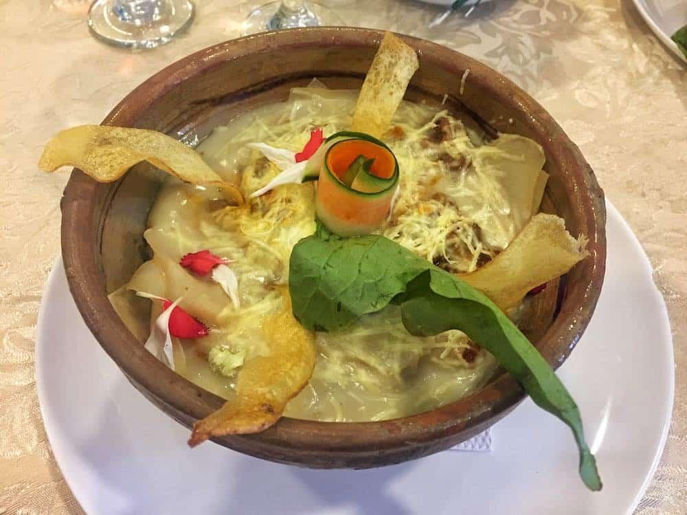 Lunch at El Solar restaurant Sucre